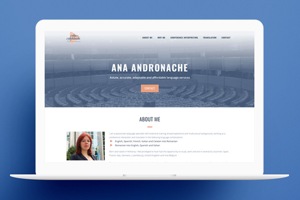 One Page Website AA Language Services